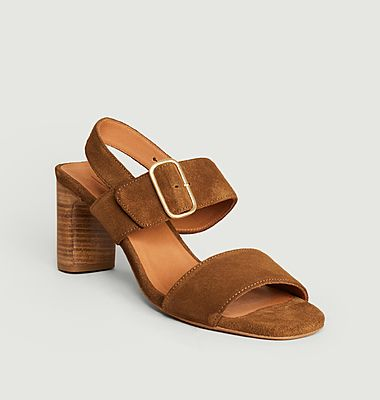 Sandales en cuir suédé Ydriss