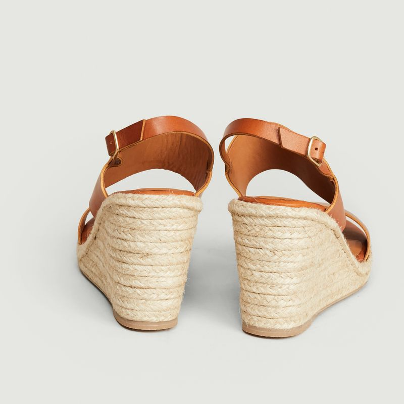 Barano leather wedge sandals - Anthology Paris