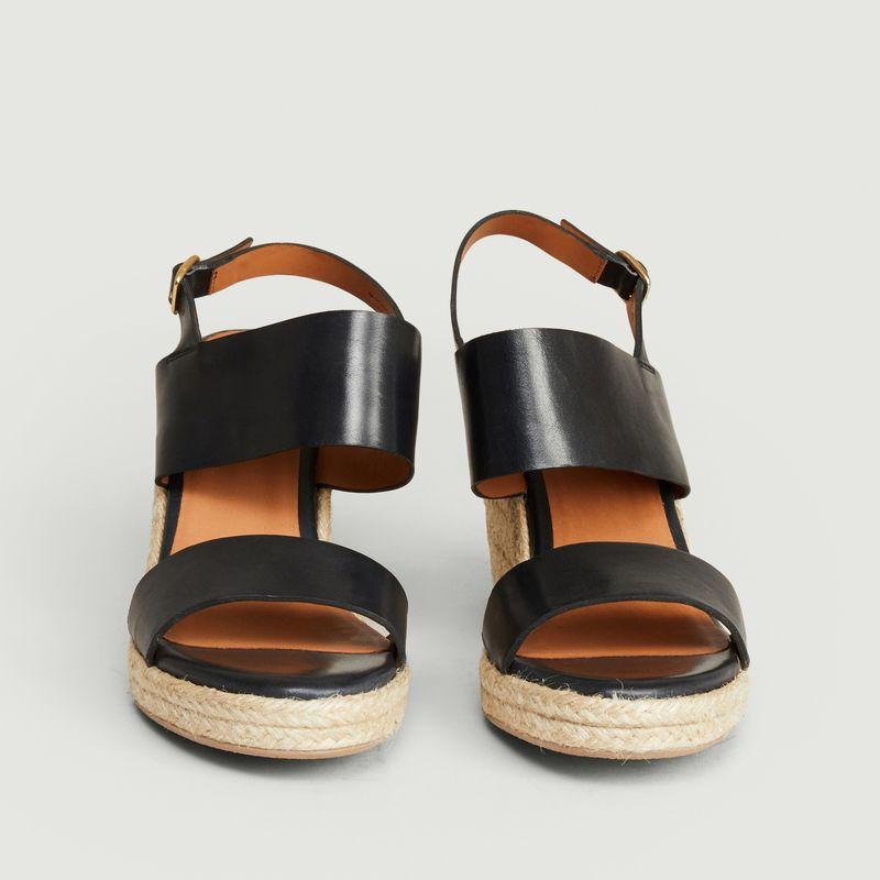 Sandales compensées en cuir Barano - Anthology Paris