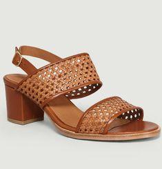 Sandales En Cuir Tressé Vita