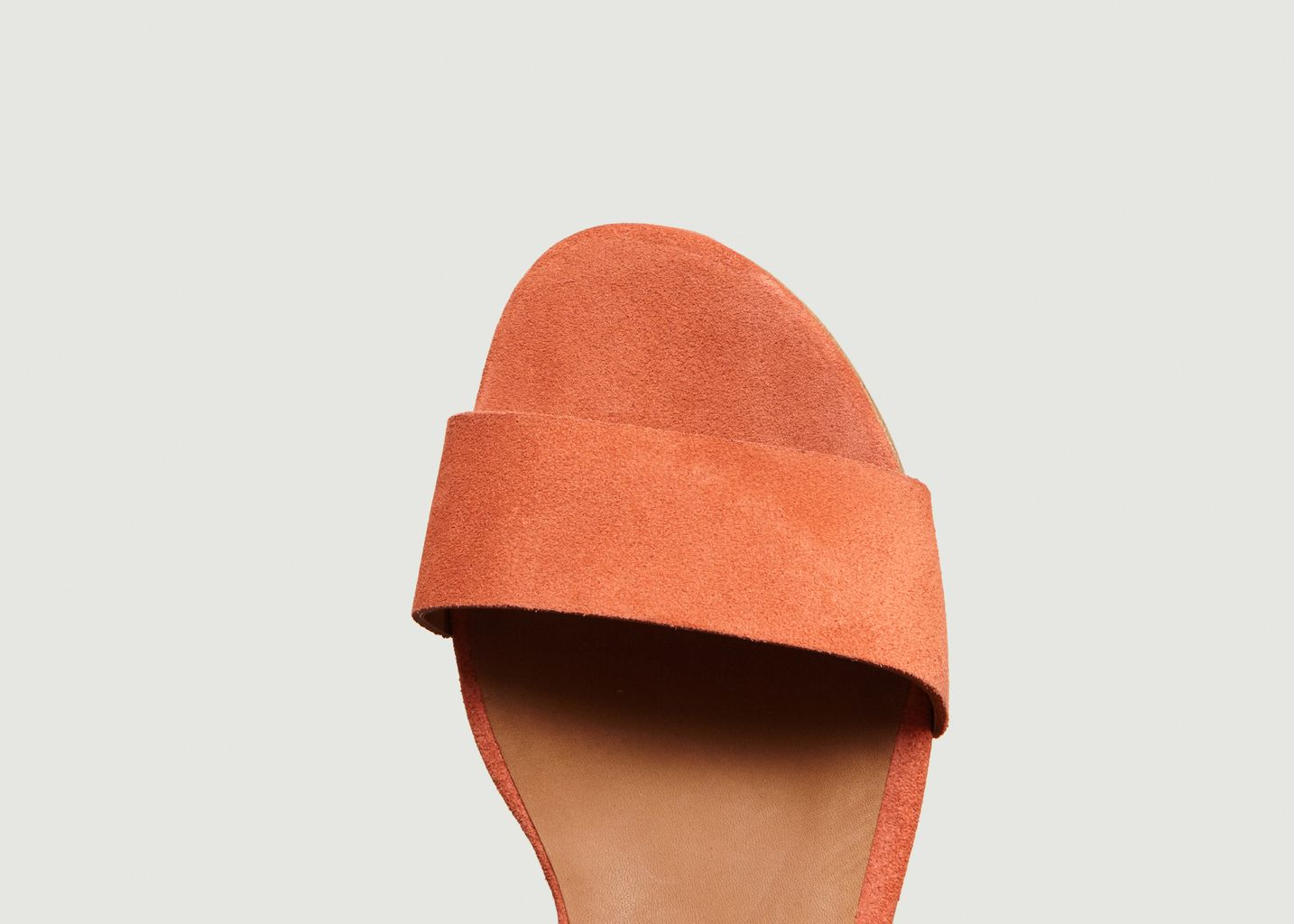 9ca5d674351123 Sandales En Daim Ursula Orange Anthology Paris   L'Exception