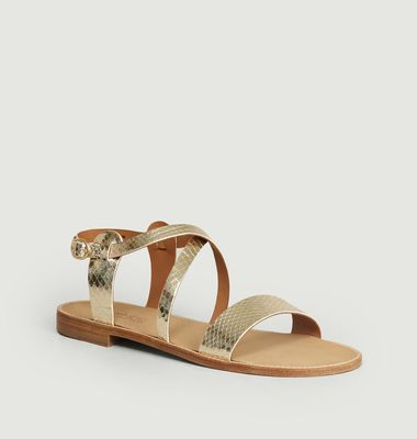 Laminated Leather Beryl Sandals