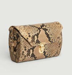 Janis Python Effect Leather Bag