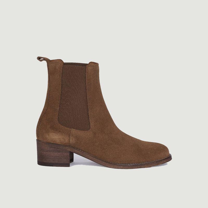 Chelsea boots en daim 7456 - Anthology Paris