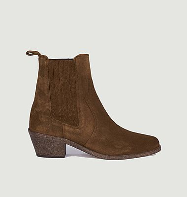 Sofia suede leather boots