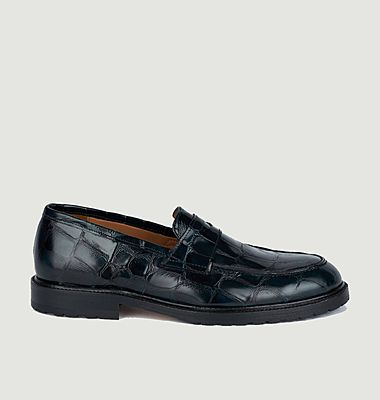 7420 croco effect leather loafers