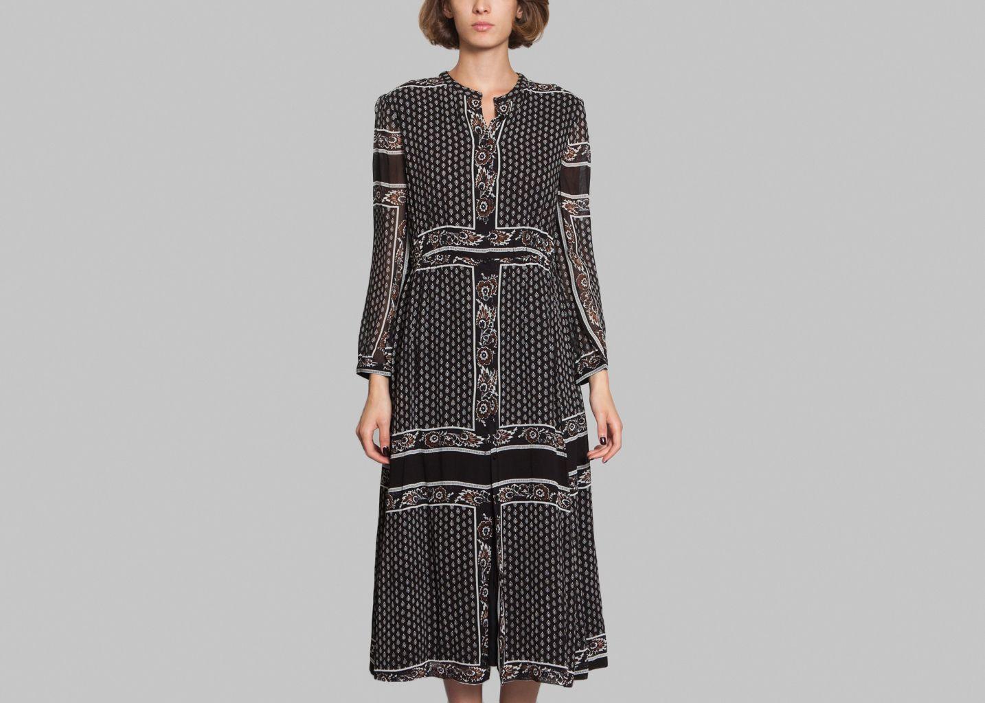 robe longue yepa antik batik noir l 39 exception. Black Bedroom Furniture Sets. Home Design Ideas