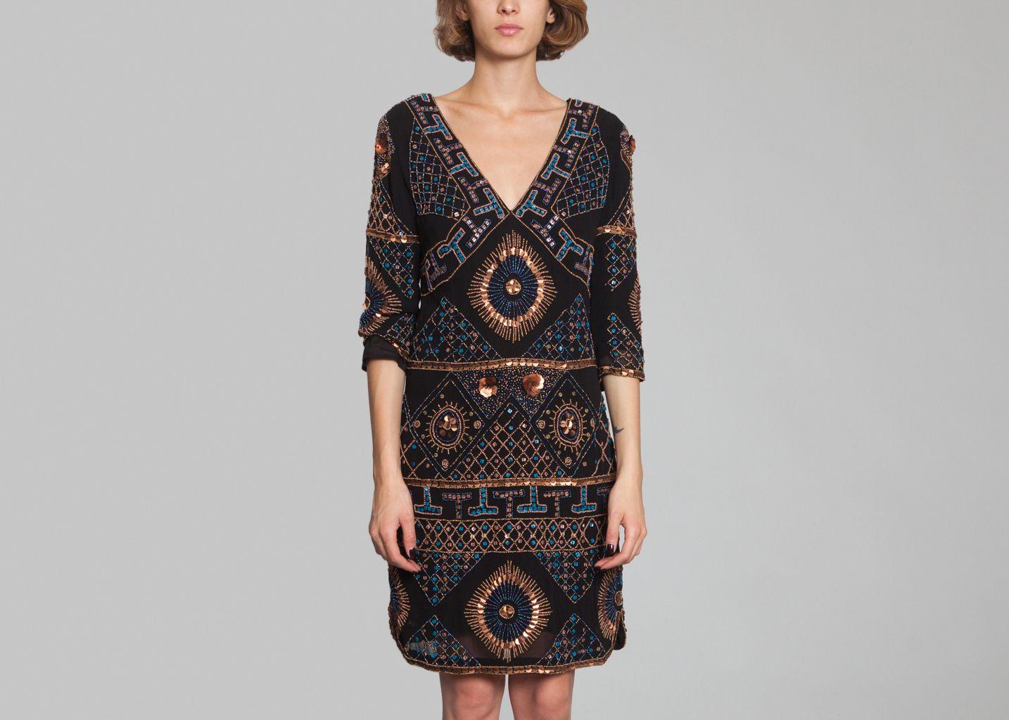 robe imala antik batik noir l 39 exception. Black Bedroom Furniture Sets. Home Design Ideas