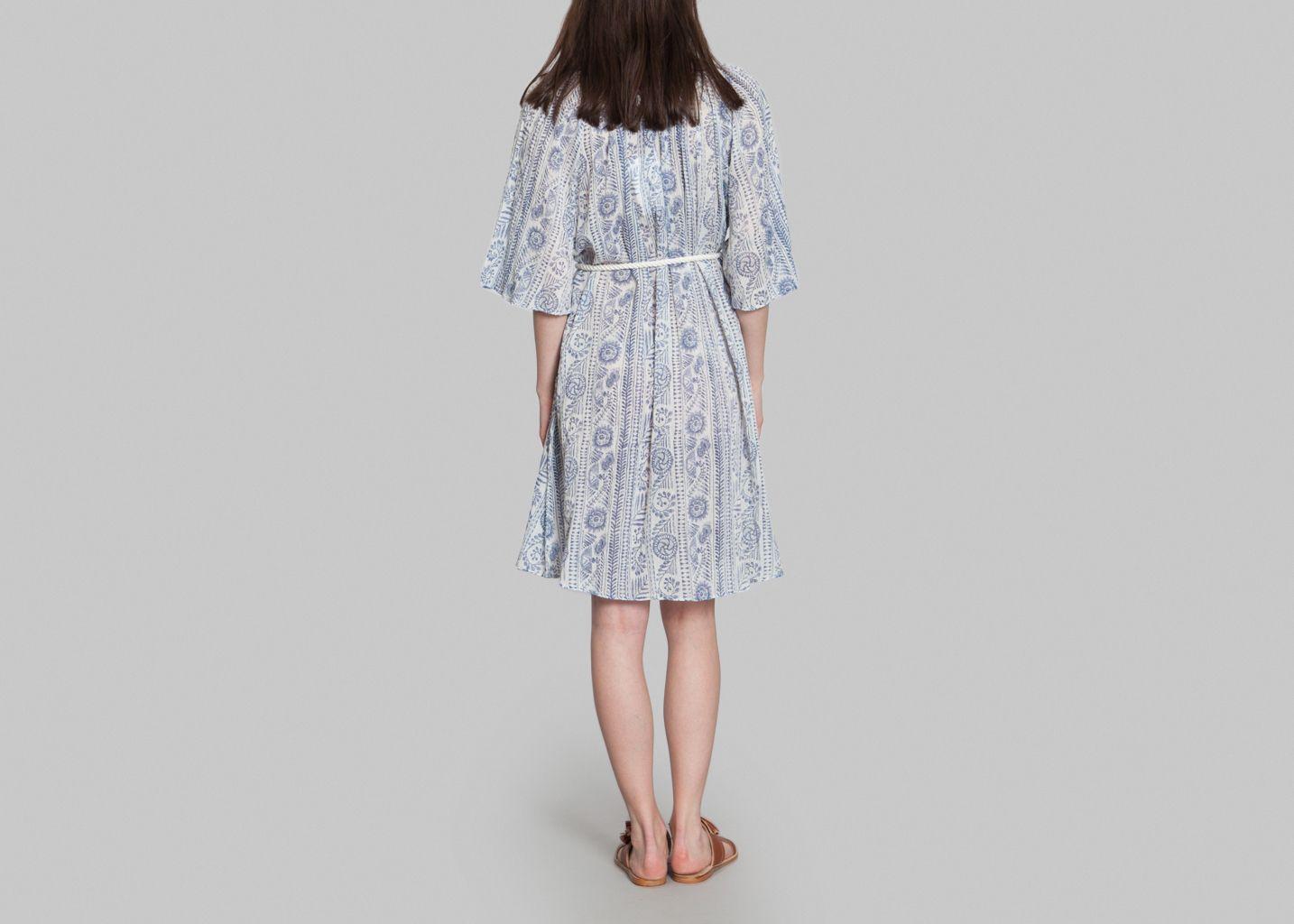 robe ewan antik batik bleu marine l 39 exception. Black Bedroom Furniture Sets. Home Design Ideas