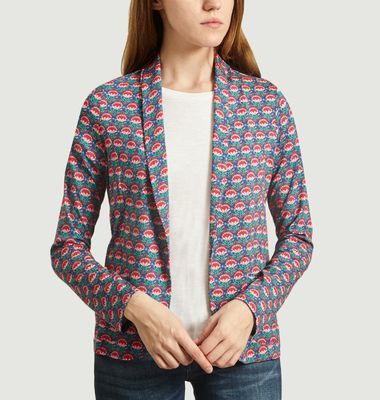 Veste Motif Fleuri Curry