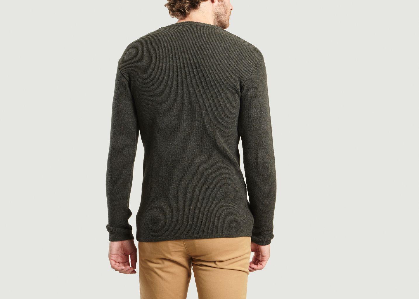 pull marin en laine d 39 agneau h ritage khaki armor lux l. Black Bedroom Furniture Sets. Home Design Ideas