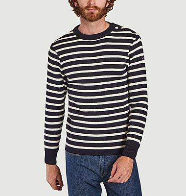 Pull marinière en laine Fouesnant