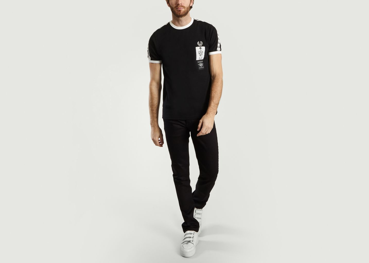 890453b2 Ringer T-shirt Black Fred Perry x Art Comes First | L'Exception