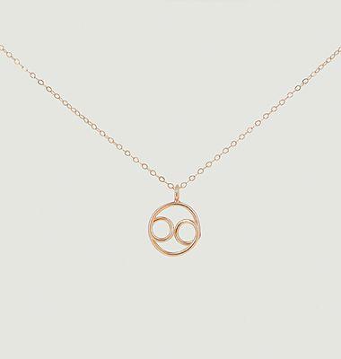 Collier chaîne avec pendentif Astro Cancer