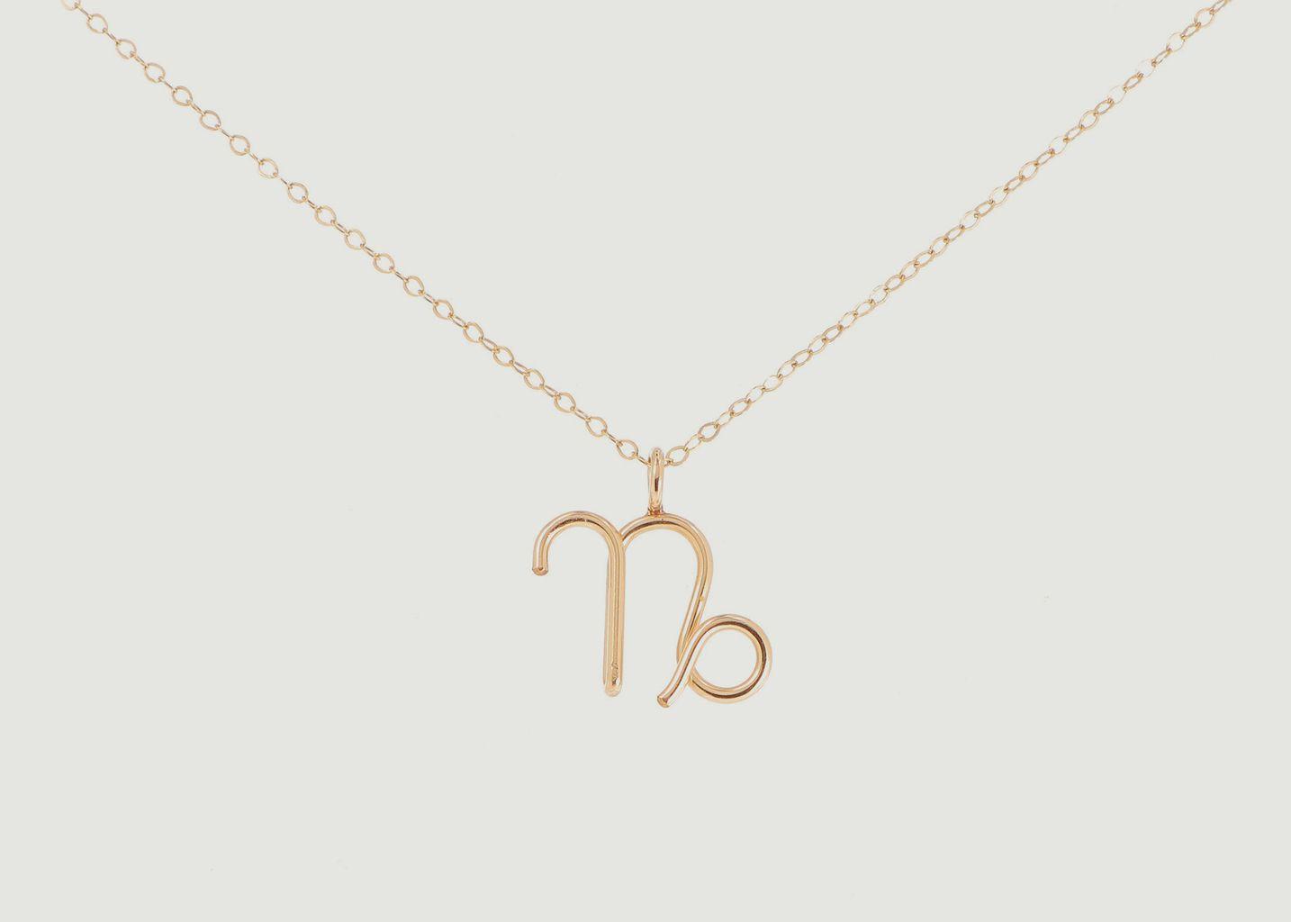 Collier chaîne avec pendentif Astro Capricorne - Atelier Paulin