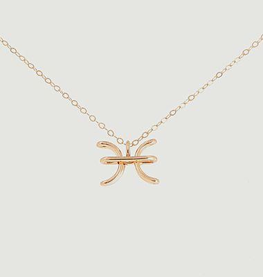 Collier chaîne avec pendentif Astro Poissons