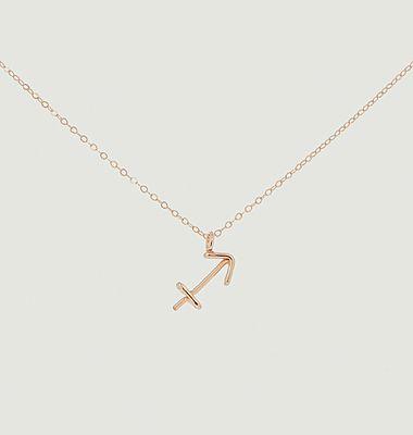 Collier chaîne avec pendentif Astro Sagittaire