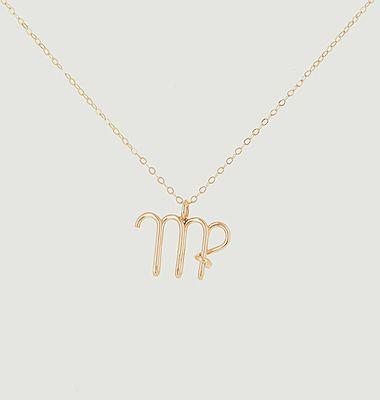 Collier chaîne avec pendentif Astro Vierge
