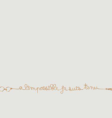 Bracelet à lettrage À l'Impossible Je Suis Tenu x Jean Cocteau