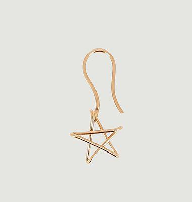 Boucle d'oreille pendante étoile Dormeuse 5 x Jean Cocteau