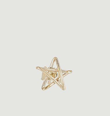 Boucle d'oreille puce étoile 5 x Jean Cocteau
