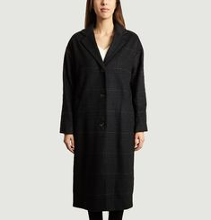 Chequered Longline Coat