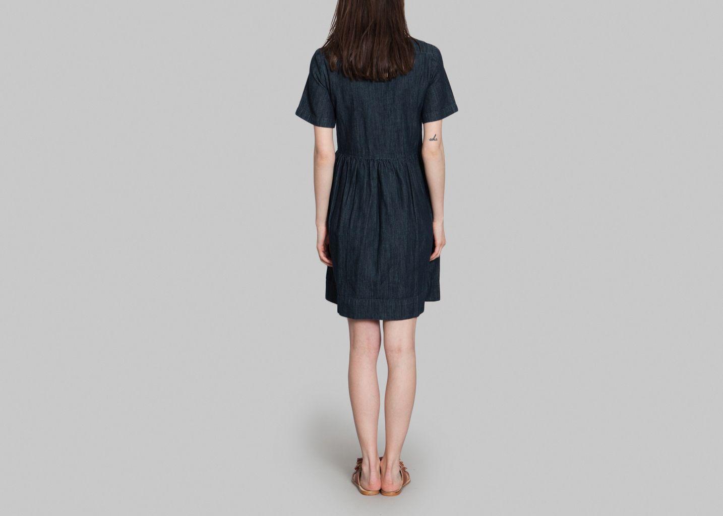 robe elise ath vanessa bruno bleu canard l 39 exception. Black Bedroom Furniture Sets. Home Design Ideas