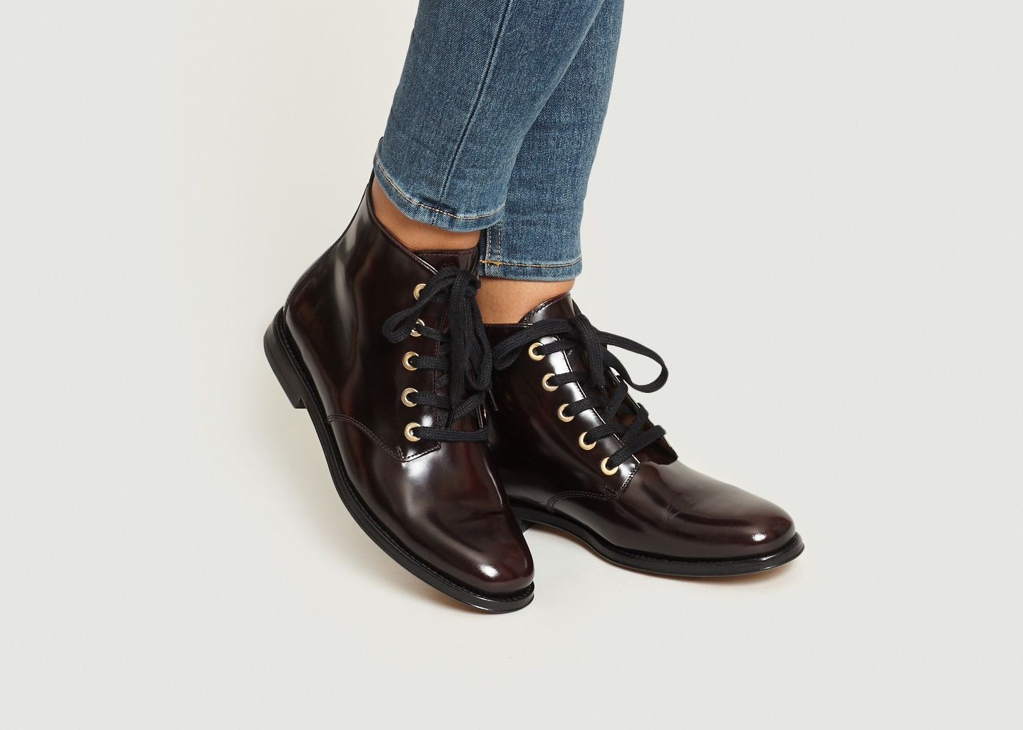 Bottines à Lacets Bordeaux Athé Vanessa Bruno   L Exception 237ca53326fb