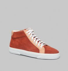 Leather Suede Mid-Top Trainers