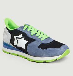 Sneakers En Daim Et Tissu Antares