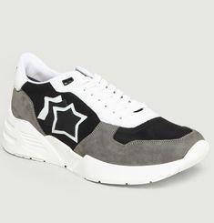 Sneakers En Daim Et Textile Mars