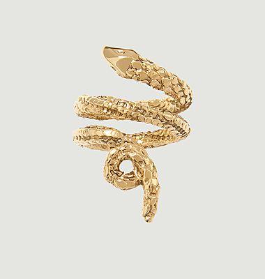 Bague serpent plaqué or Tao
