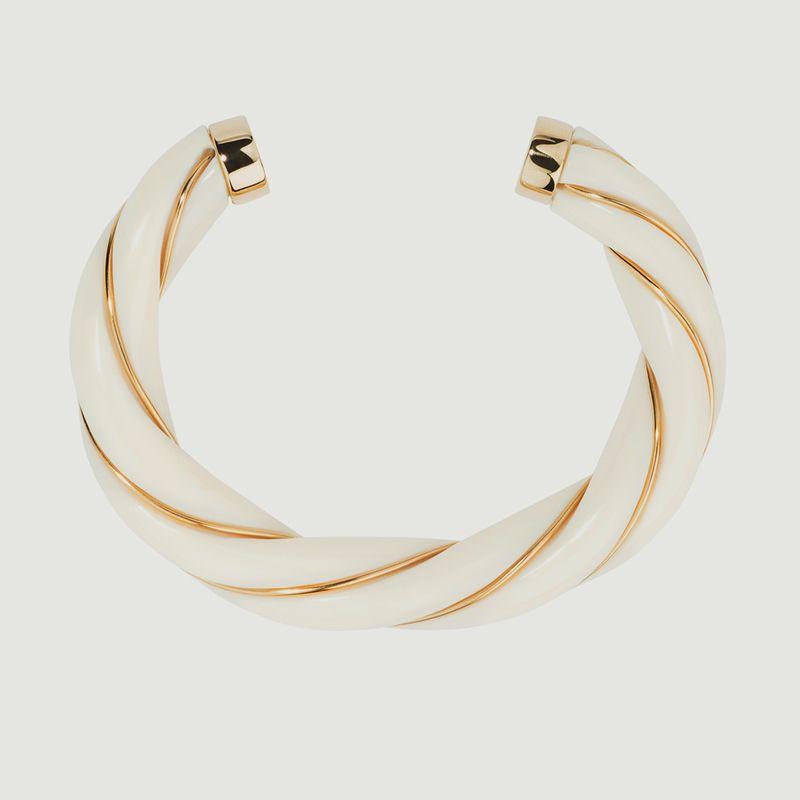 Bracelet jonc torsadé résine et plaqué or Diana - Aurélie Bidermann