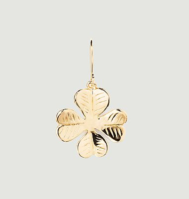 Aurélie Trèfle gold plated sleeper earring