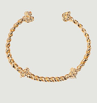 Palazzo gold plated bangle bracelet