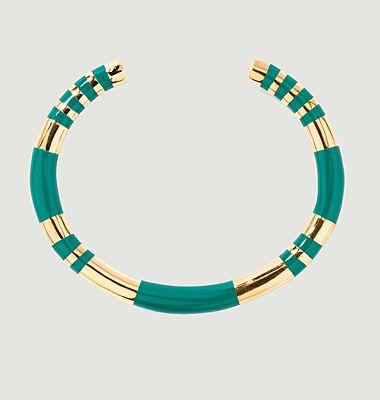 Bracelet jonc résine et plaqué or Positano