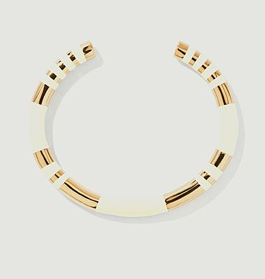 Positano resin and gold plated bangle bracelet