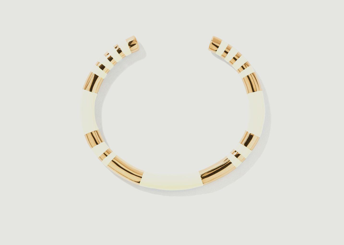 Bracelet jonc résine et plaqué or Positano - Aurélie Bidermann