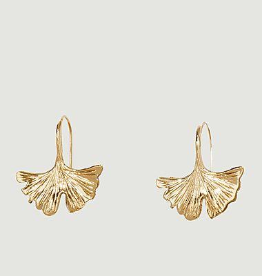 Boucles d'oreilles pendantes plaqué or Tangerine