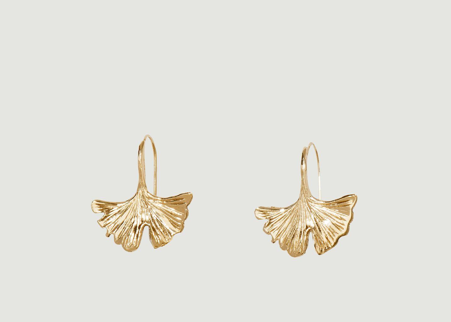 Boucles d'oreilles pendantes plaqué or Tangerine - Aurélie Bidermann