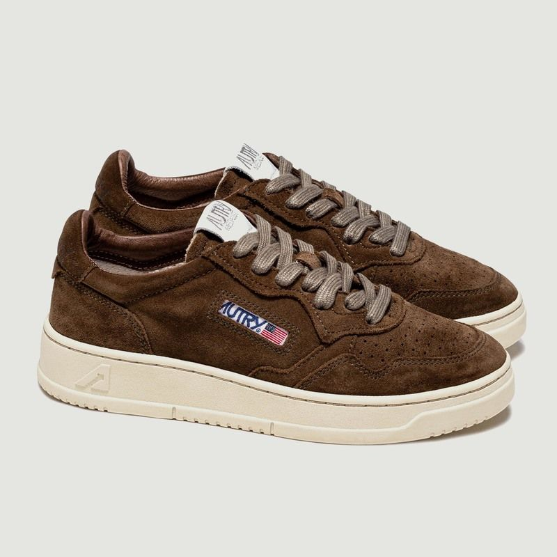 Sneakers Autry  01 Low Man Suede Marron - AUTRY