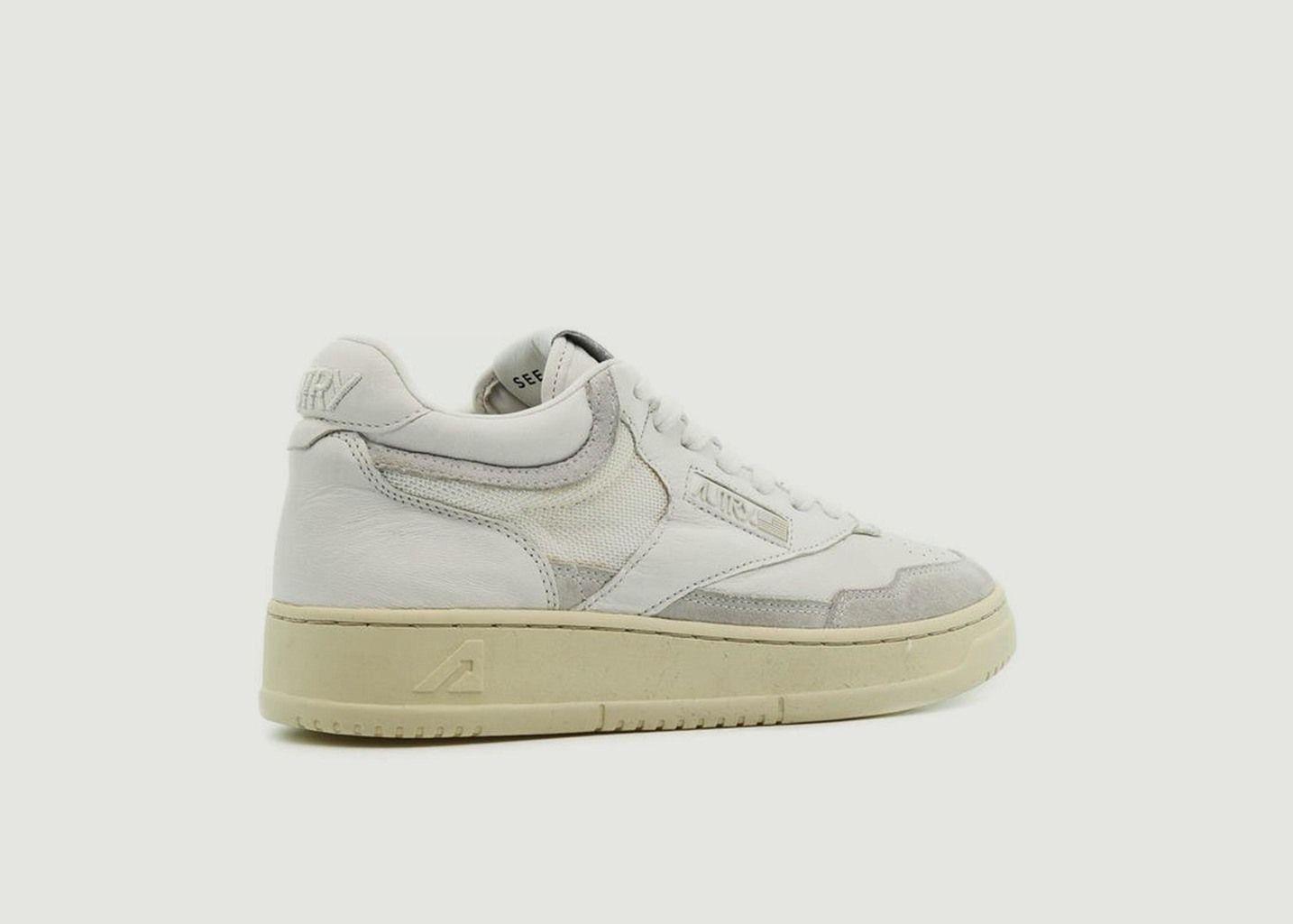 Sneakers Autry 01 Mid Man Open Tout Blanc - AUTRY