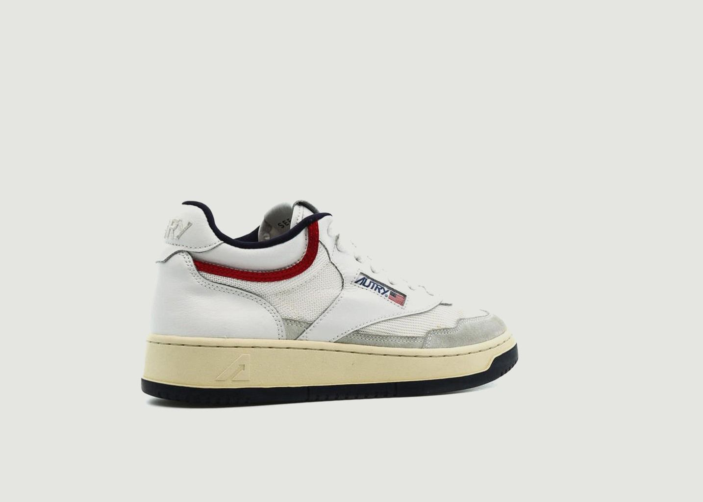 Sneakers Autry 01 Mid Man Cuir Blanc - AUTRY