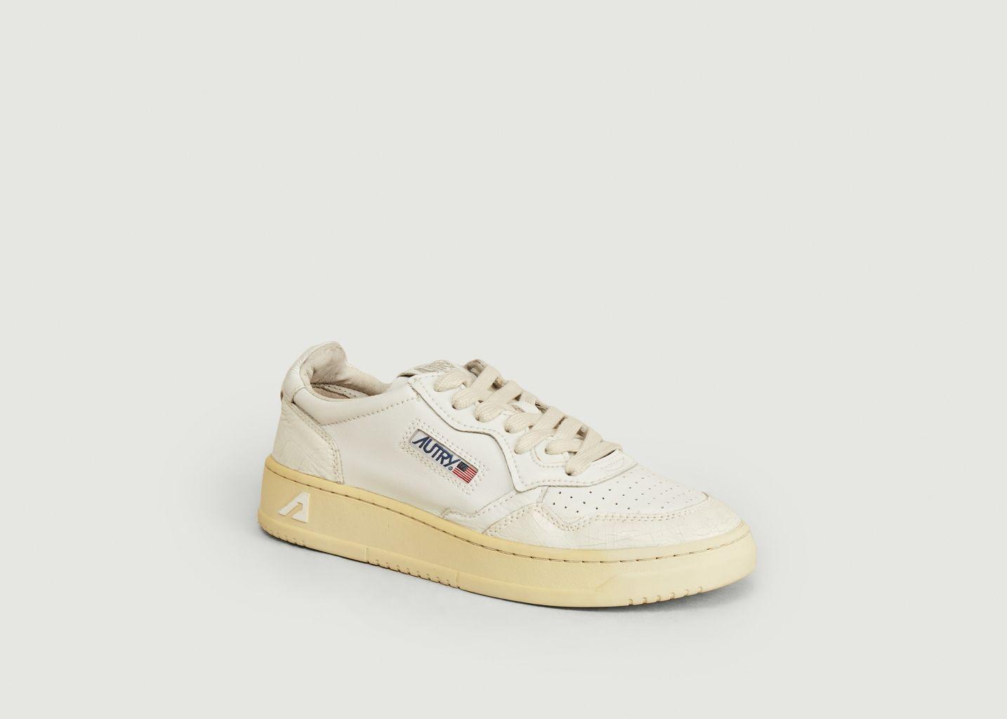 Sneakers en cuir craquelé Medalist - AUTRY