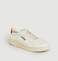 01 Low leather sneakers