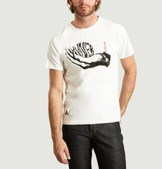T-shirt Wave Hand White