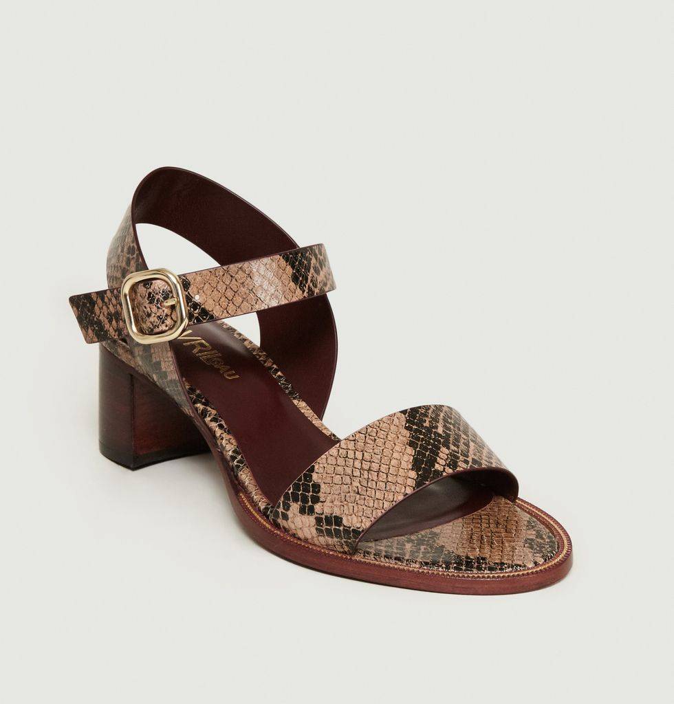 120e660f003c2 Reptile Print Pool Sandals Moka Avril Gau | L'Exception