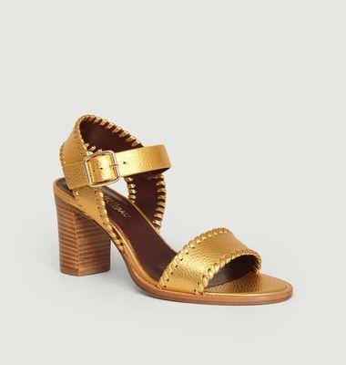 Sandales en cuir métallisé Cool-Pa