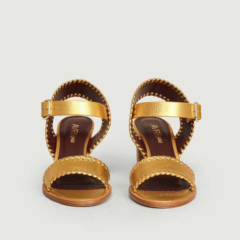 Sandales en cuir métallisé Cool-Pa - Avril Gau