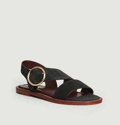 Travers suede leather flat sandals